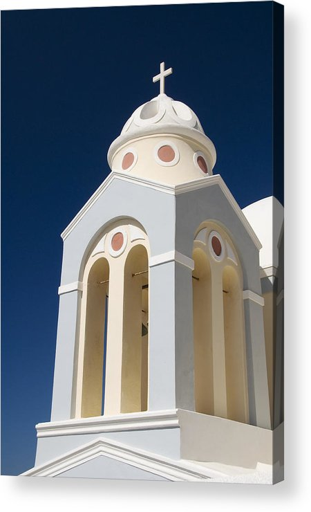 Architecture Acrylic Print featuring the photograph Church Bell Tower by Gloria & Richard Maschmeyer