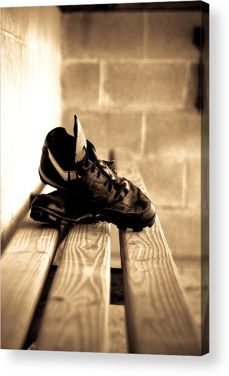 Baseball Acrylic Print featuring the photograph Cleats by Susan Schumann