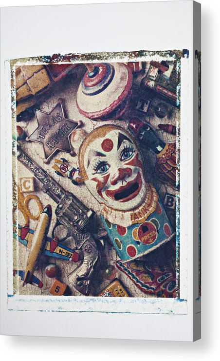 Clown Bank Acrylic Print featuring the photograph Clown Bank by Garry Gay
