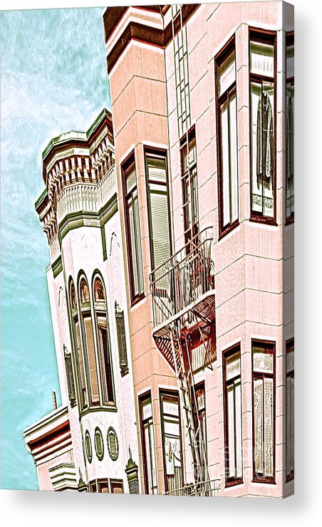 San Francisco Acrylic Print featuring the digital art Coat In The Window by Artist and Photographer Laura Wrede