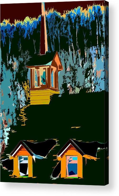 Church Acrylic Print featuring the photograph Country Church by Burney Lieberman