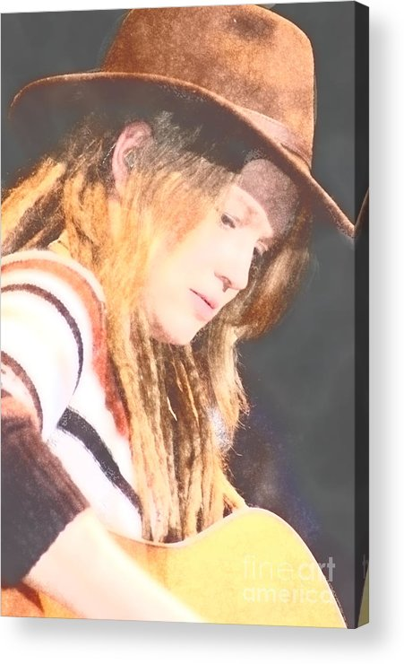 Acrylic Print featuring the photograph Crystal Bowersox by Donna Bentley
