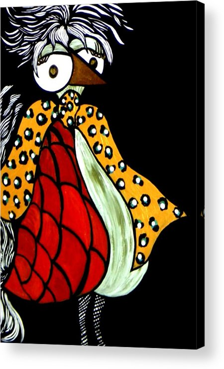 Chicken Acrylic Print featuring the painting Delilah Hen by Amy Carruth-Drum