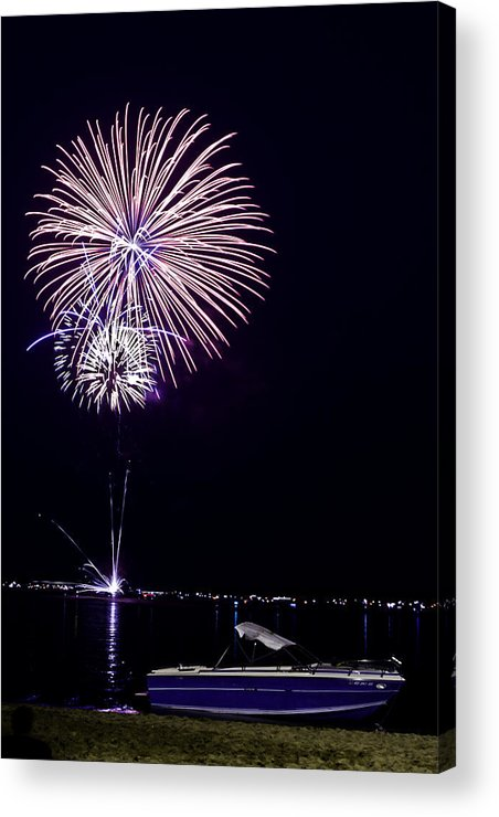 Fire Works Acrylic Print featuring the photograph Detroit Lakes 2012 by Kevin Alpert
