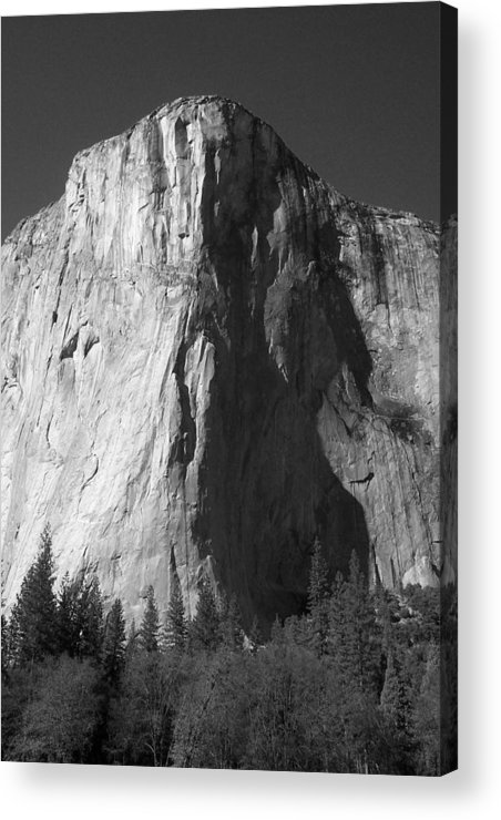 Yosemite Acrylic Print featuring the photograph El Cap Face On by Eric Tressler