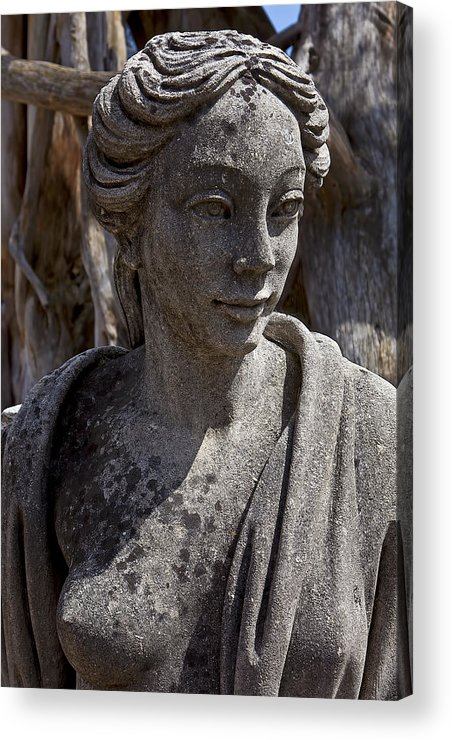 Female Acrylic Print featuring the photograph Female Statue by Garry Gay
