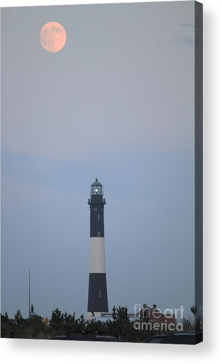 Light House Acrylic Print featuring the photograph Fire Island Light House by Scenesational Photos