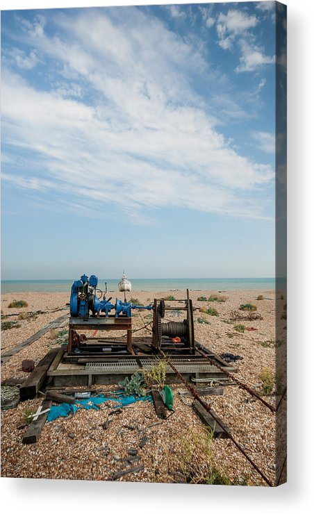 Boat Acrylic Print featuring the photograph Fishing Winches by Dawn OConnor