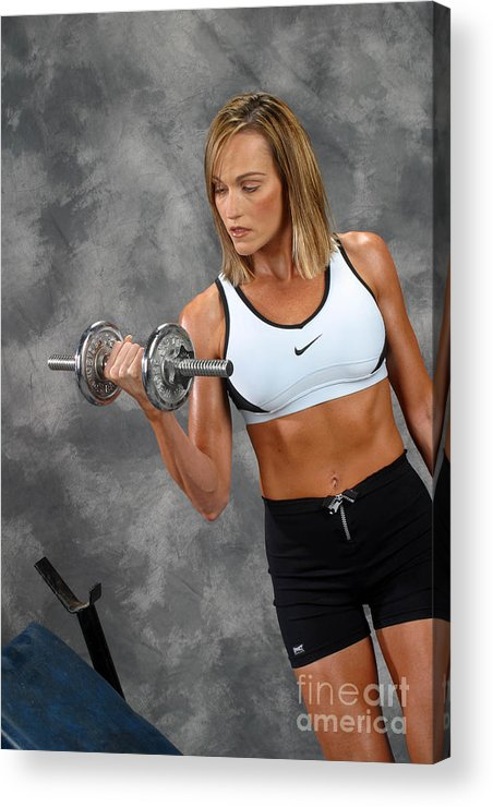 Model Acrylic Print featuring the photograph Fitness 5 by Gary Gingrich Galleries