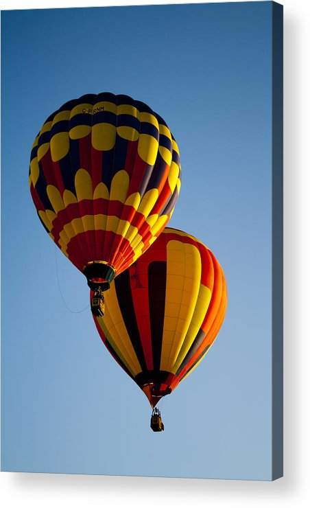 Air Acrylic Print featuring the photograph Flying Twins by Fredrik Ryden