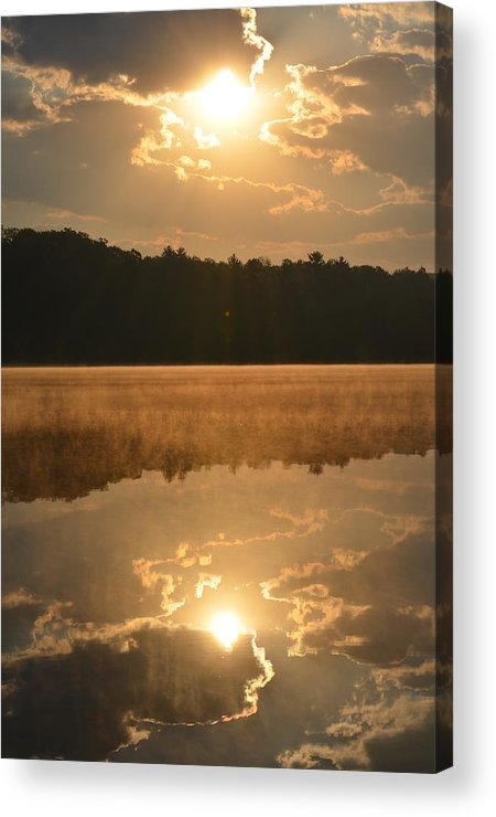 Lake Acrylic Print featuring the photograph Foggy Sunrise by Jennifer King