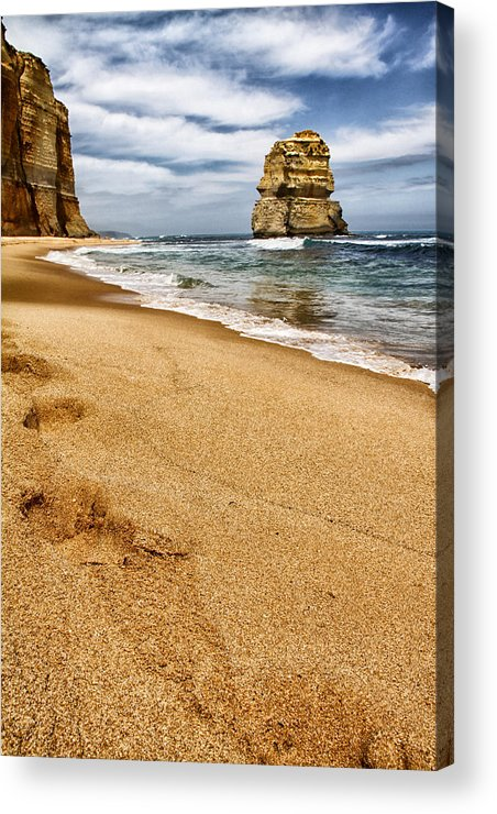 Footsteps Acrylic Print featuring the photograph Footsteps by John Monteath