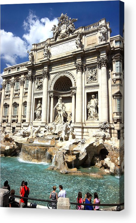 Rome Acrylic Print featuring the photograph Fountain Of Trevi by Joe Myeress