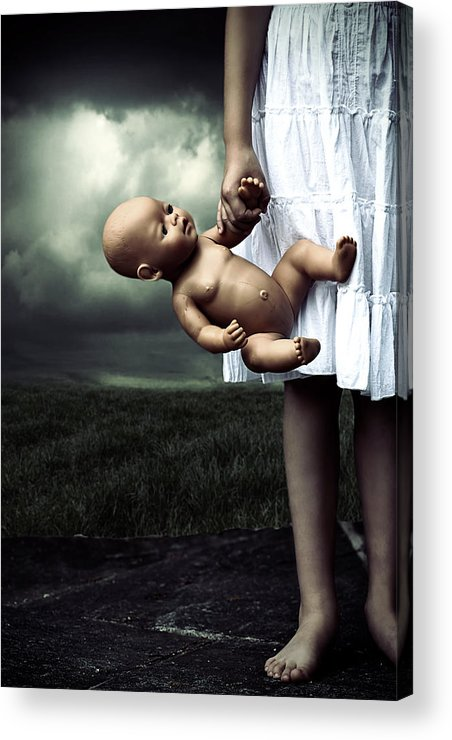 Girl Acrylic Print featuring the photograph Girl With A Baby Doll by Joana Kruse