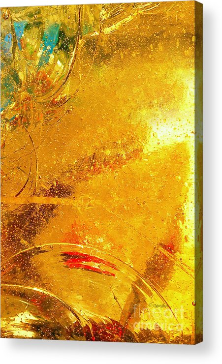 Abstract Photography Acrylic Print featuring the photograph Glassworks Series-gold I by Regina Geoghan