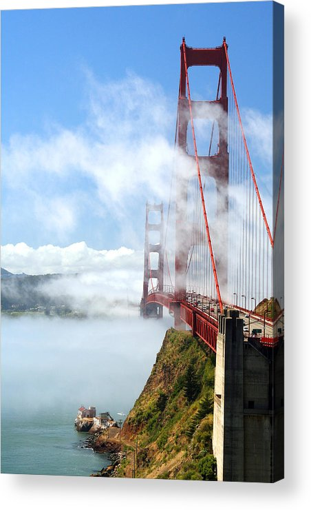 Golden Gate Bridge Acrylic Print featuring the photograph Golden Gate Bridge by Joe Myeress