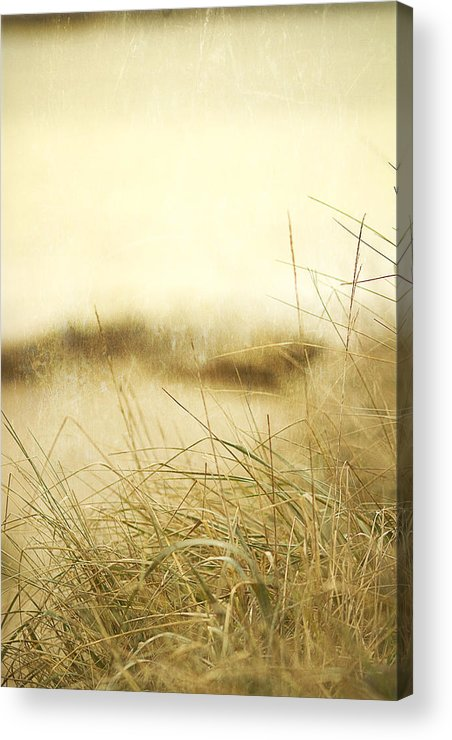 Beach Acrylic Print featuring the photograph Gray Day At The Beach by Rebecca Cozart