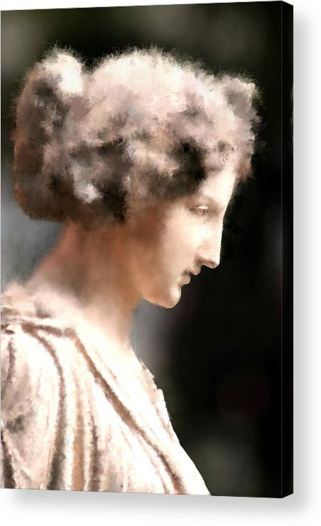 Nature Acrylic Print featuring the digital art Greek Woman by Ilias Athanasopoulos
