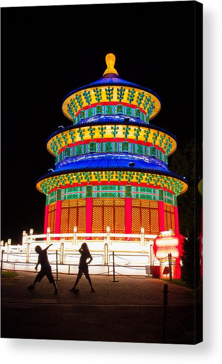Art Acrylic Print featuring the photograph Heavenly Temple by Semmick Photo