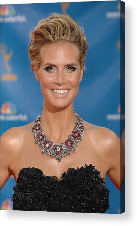 Heidi Klum Acrylic Print featuring the photograph Heidi Klum Wearing A Lorraine Schwartz by Everett