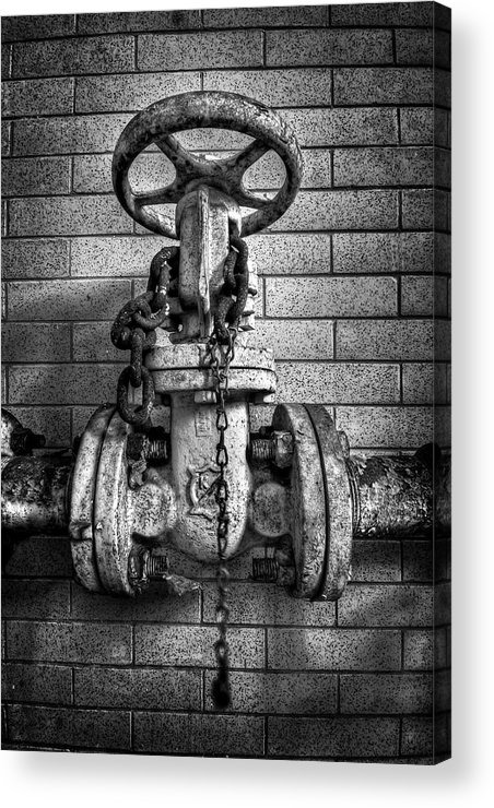 Metal Acrylic Print featuring the photograph Hooked On Metal by Evelina Kremsdorf
