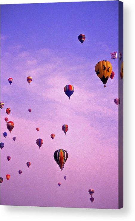Hot Air Acrylic Print featuring the photograph Hot Air Balloon Race - 1 by Randy Muir