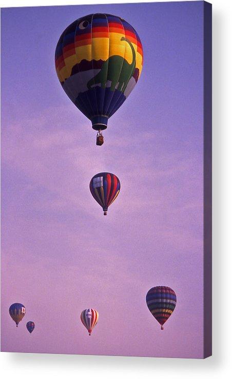 Hot Air Acrylic Print featuring the photograph Hot Air Balloon Race - 3 by Randy Muir