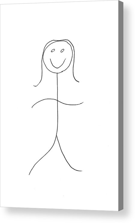 Portrait Acrylic Print featuring the drawing Human With Conditioner by Ekse Wadabok