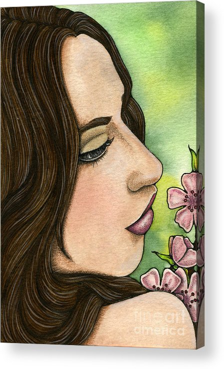 I Acrylic Print featuring the painting I Remember by Nora Blansett