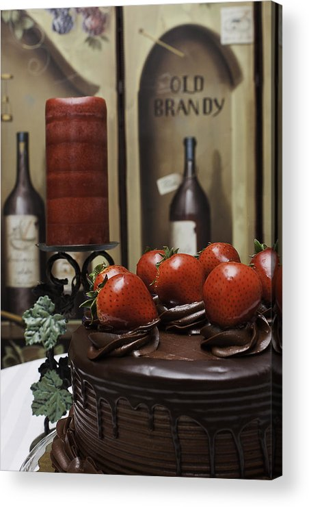 Cake Acrylic Print featuring the photograph Indulgence by Barbie Bowser