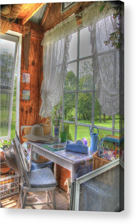 Cottage Acrylic Print featuring the digital art Inside The Cottage by Sharon Batdorf