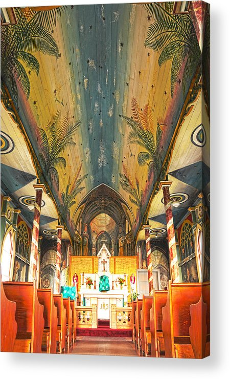 Painted Church Acrylic Print featuring the photograph Inside The Painted Church by Brian Bonham