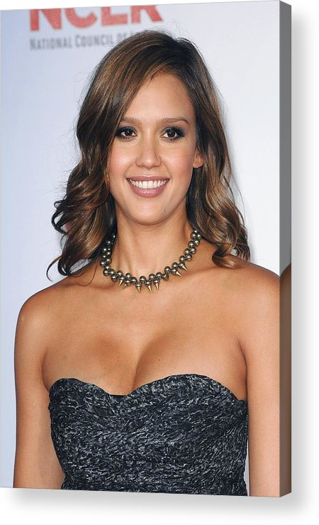 Jessica Alba Acrylic Print featuring the photograph Jessica Alba At Arrivals For 2011 Nclr by Everett
