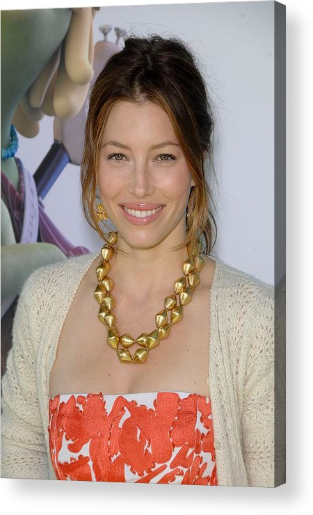 Jessica Biel Acrylic Print featuring the photograph Jessica Biel At Arrivals For Planet 51 by Everett
