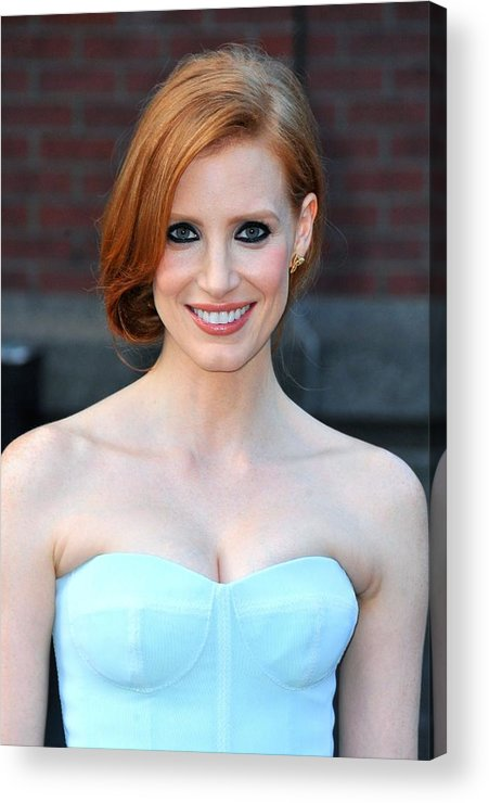 Jessica Chastain Acrylic Print featuring the photograph Jessica Chastain At Arrivals For The by Everett