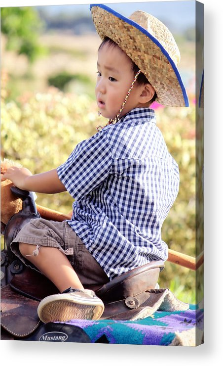Child Acrylic Print featuring the photograph Jonah And Elijah 6 by Dawn Eshelman