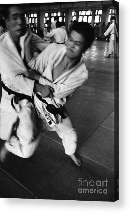 Tokyo Acrylic Print featuring the photograph Judo by Bernard Wolff