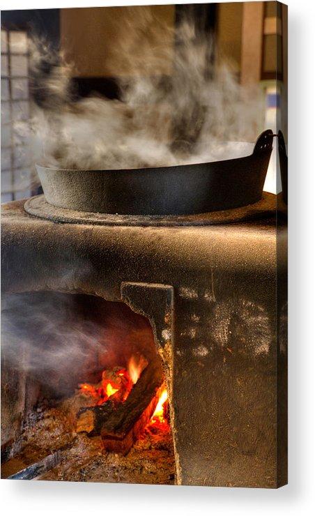 Fire Place Acrylic Print featuring the photograph Kamado by Tad Kanazaki