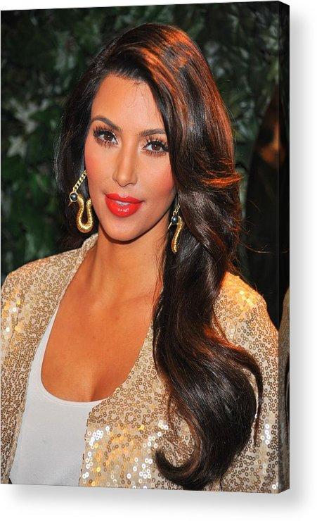 Kim Kardashian Acrylic Print featuring the photograph Kim Kardashian At Arrivals For Qvc Red by Everett