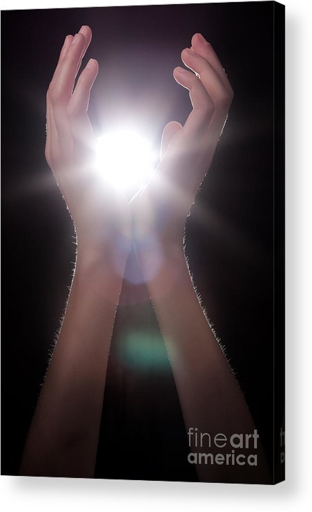 Light Acrylic Print featuring the photograph Knowledge by Cindy Singleton