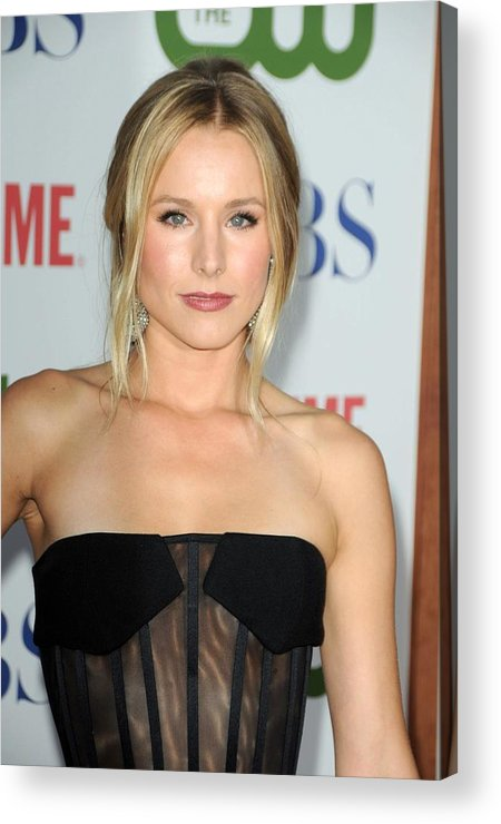 Kristen Bell Acrylic Print featuring the photograph Kristen Bell At Arrivals For Cbs, The by Everett