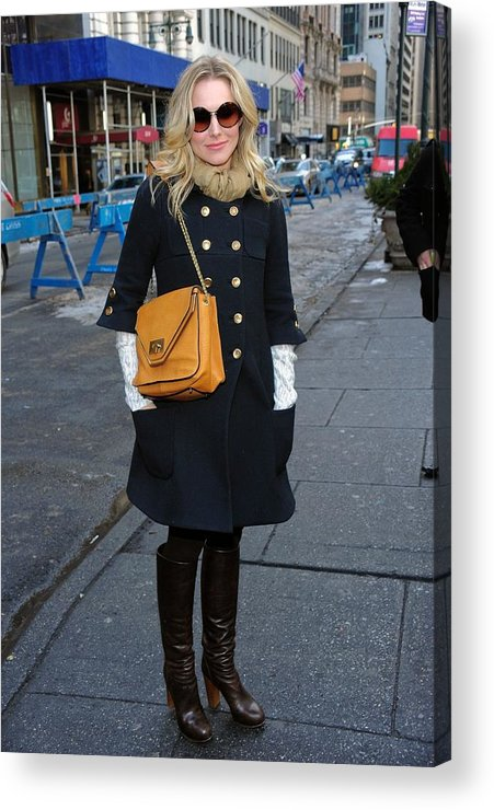 Kristen Bell Acrylic Print featuring the photograph Kristen Bell Out And About For Sun by Everett