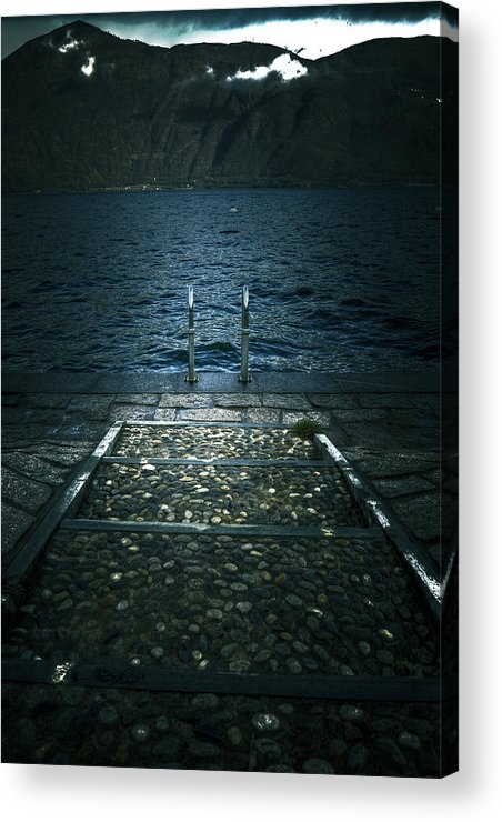 Lago Maggiore Acrylic Print featuring the photograph Lake In The Winter by Joana Kruse