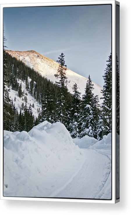 Mountain Acrylic Print featuring the photograph Last Glance At The Mountain by Lisa Spencer