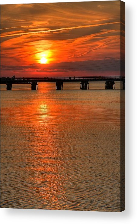 Cross Acrylic Print featuring the photograph Lead Me To The Cross by John Loreaux