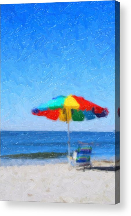 Beach Acrylic Print featuring the painting Life's A Beach by Tilly Williams