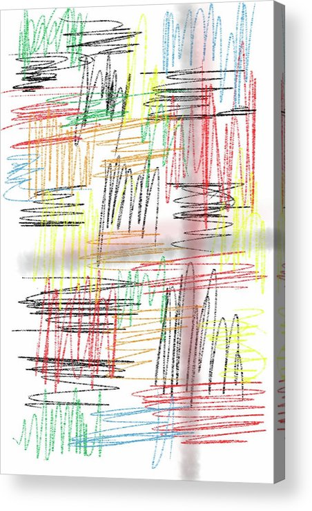 Abstract Acrylic Print featuring the photograph Lines by Michael Farris