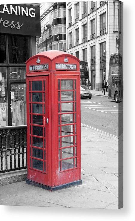 Telephone Box Acrylic Print featuring the photograph London Phone Box by Dawn OConnor