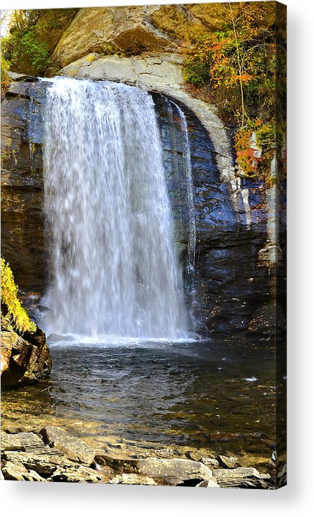 Autumn Acrylic Print featuring the photograph Looking Glass Falls by Susan Leggett
