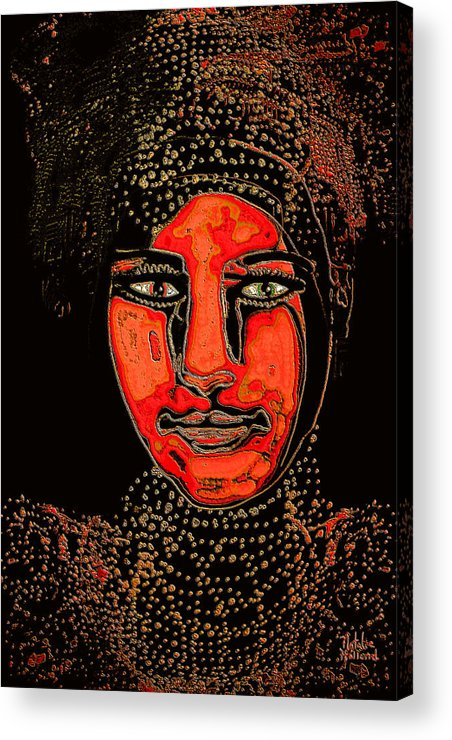 Face Acrylic Print featuring the mixed media Luminous by Natalie Holland